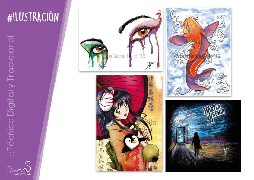 Ilustraciones Tradicionales y Digitales